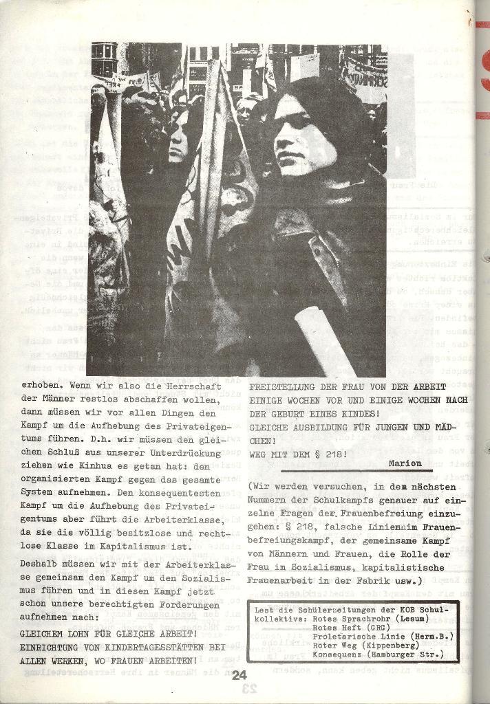 Schulkampf _ Zeitung des KOB, Nr. 3/73, Seite 24