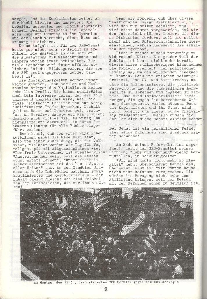 Schulkampf _ Zeitung des KOB, Nr. 4/73, Seite 2