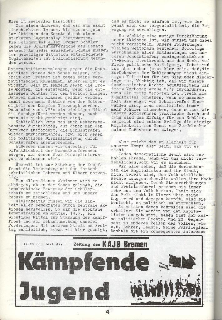 Schulkampf _ Zeitung des KOB, Nr. 4/73, Seite 4
