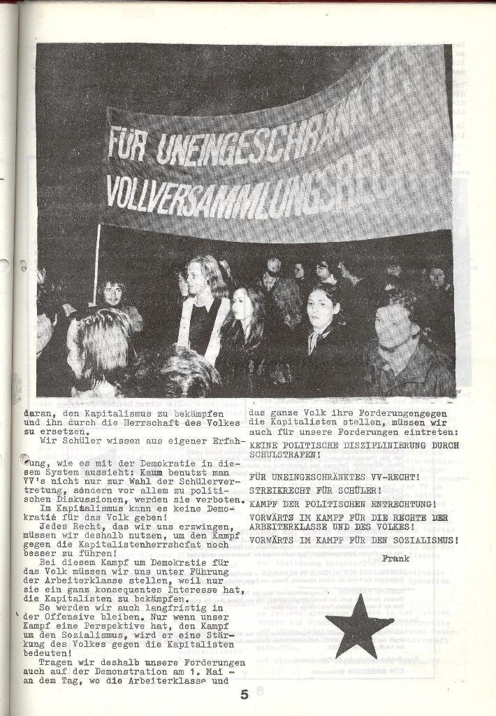 Schulkampf _ Zeitung des KOB, Nr. 4/73, Seite 5