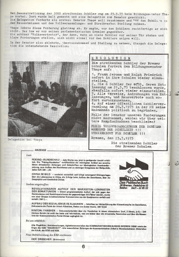 Schulkampf _ Zeitung des KOB, Nr. 4/73, Seite 6