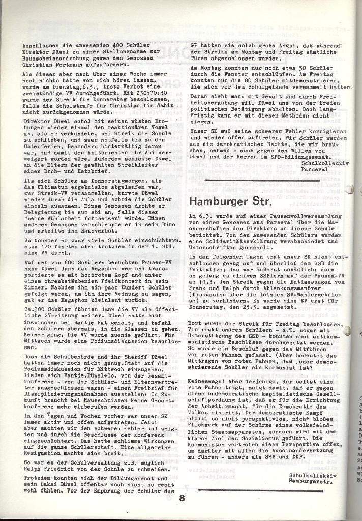 Schulkampf _ Zeitung des KOB, Nr. 4/73, Seite 8