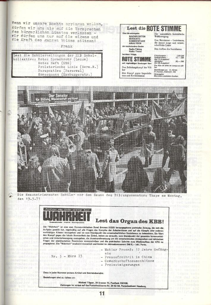 Schulkampf _ Zeitung des KOB, Nr. 4/73, Seite 11
