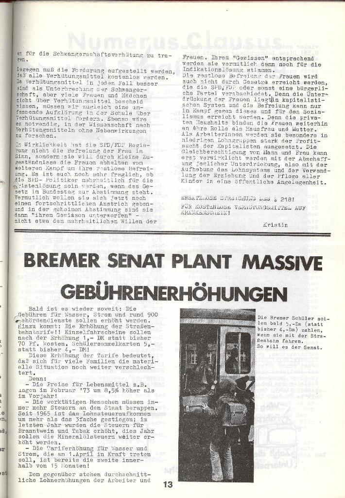Schulkampf _ Zeitung des KOB, Nr. 4/73, Seite 13