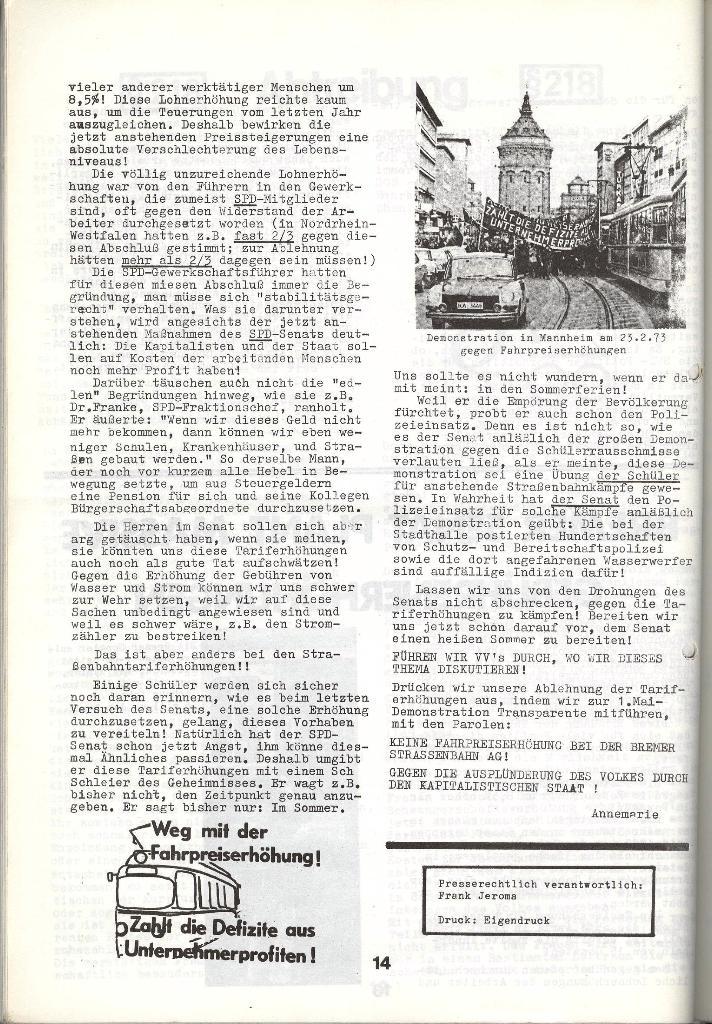 Schulkampf _ Zeitung des KOB, Nr. 4/73, Seite 14