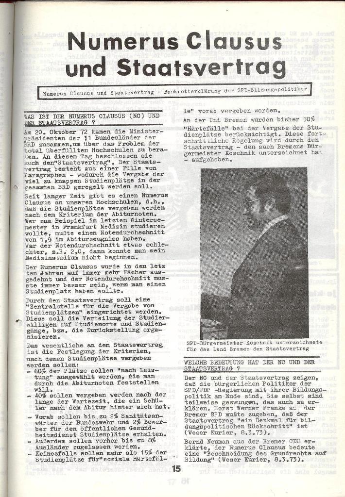 Schulkampf _ Zeitung des KOB, Nr. 4/73, Seite 15