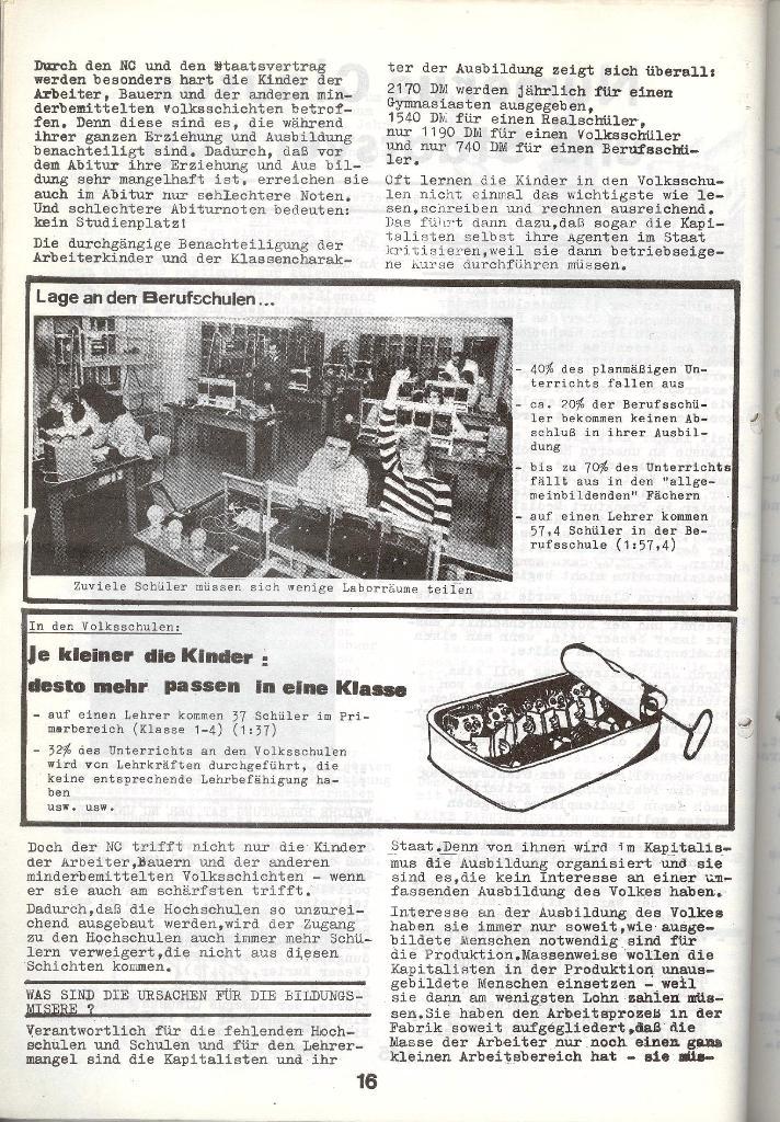 Schulkampf _ Zeitung des KOB, Nr. 4/73, Seite 16