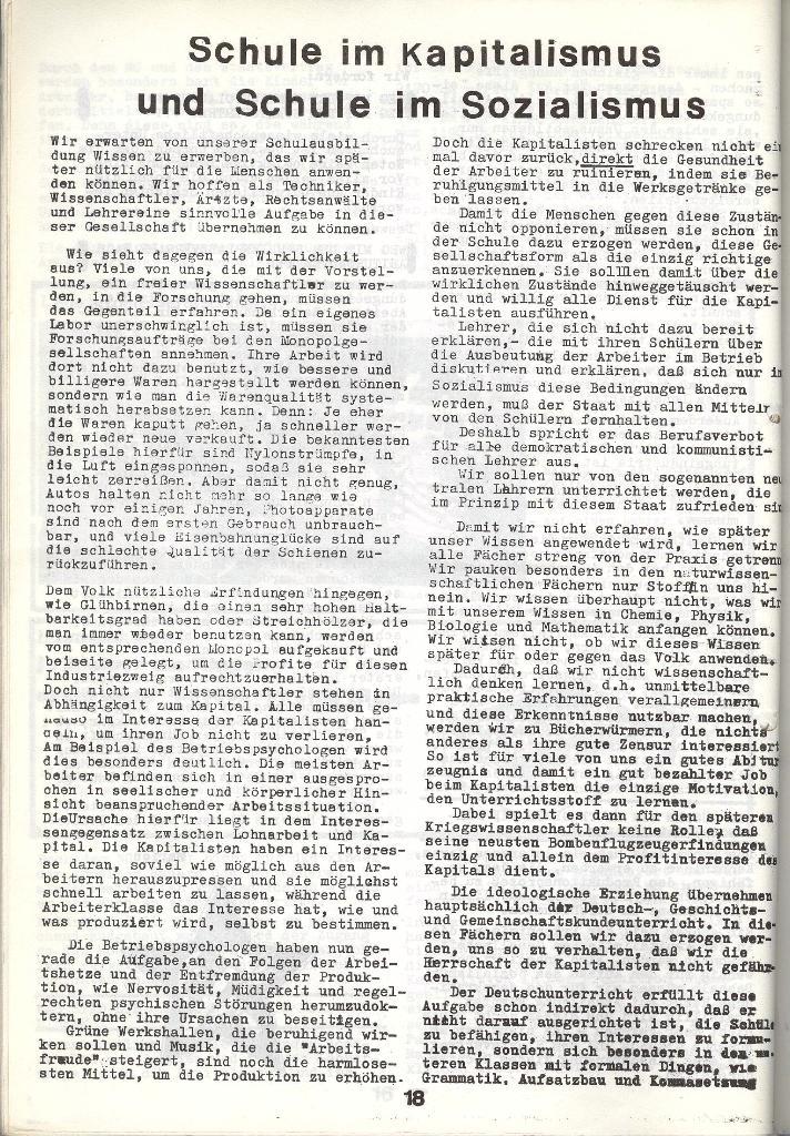 Schulkampf _ Zeitung des KOB, Nr. 4/73, Seite 18