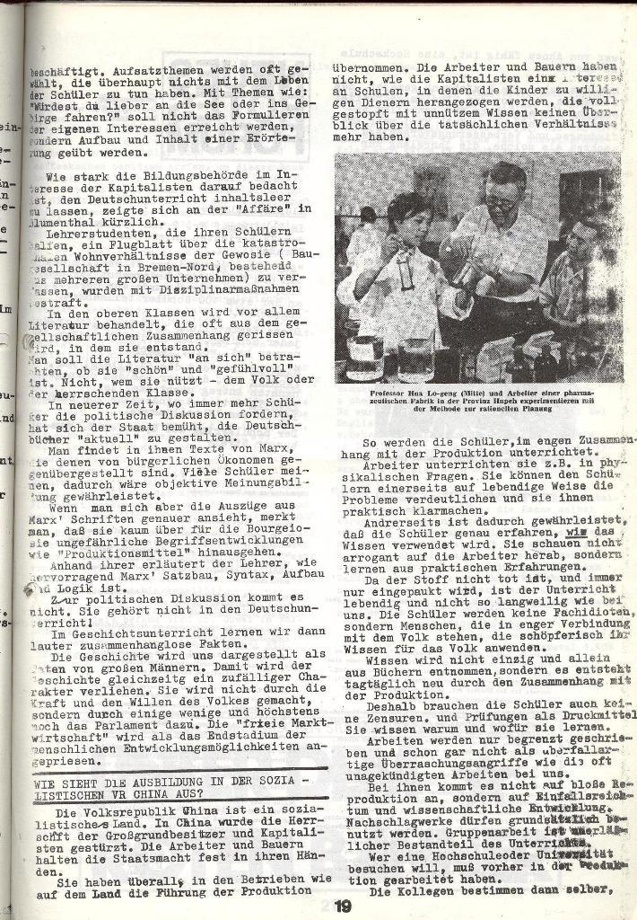 Schulkampf _ Zeitung des KOB, Nr. 4/73, Seite 19