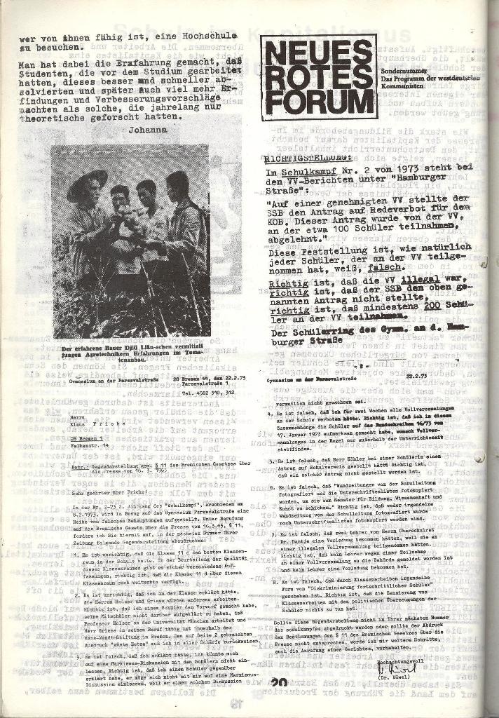 Schulkampf _ Zeitung des KOB, Nr. 4/73, Seite 20
