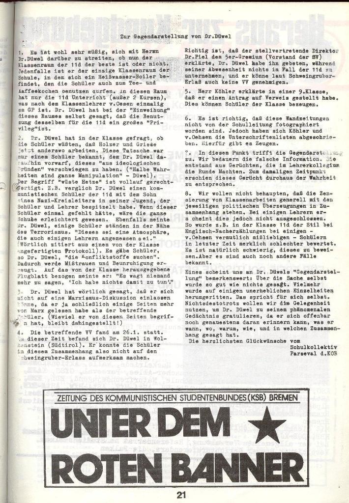 Schulkampf _ Zeitung des KOB, Nr. 4/73, Seite 21