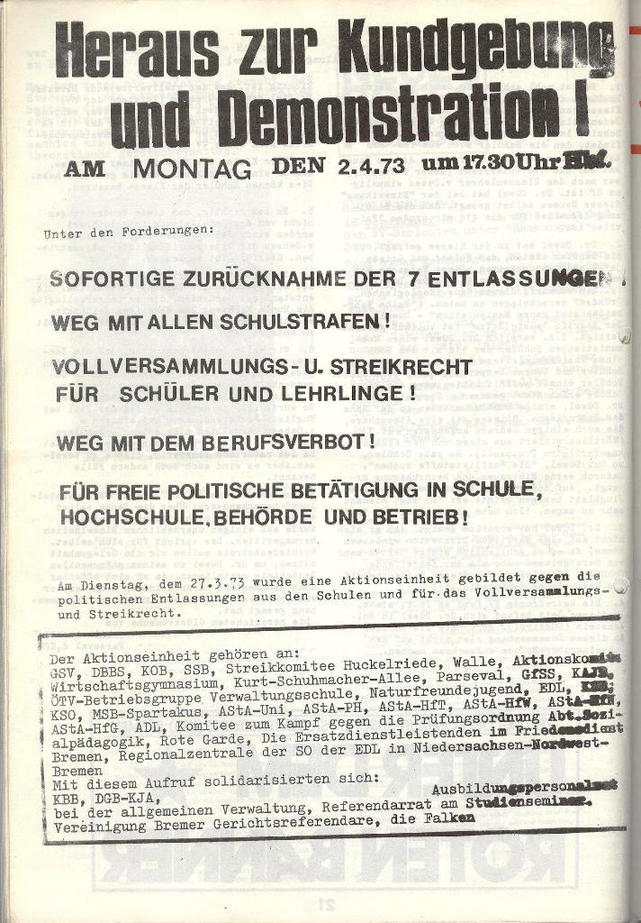Schulkampf _ Zeitung des KOB, Nr. 4/73, Seite 22