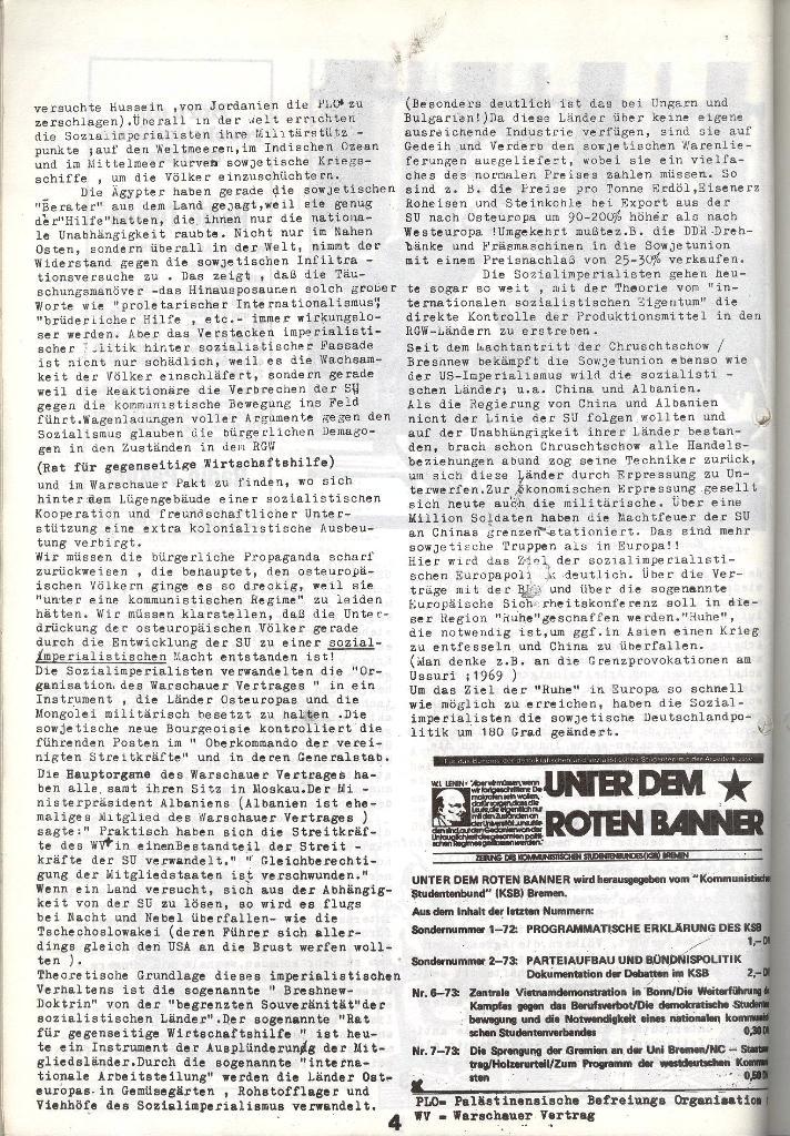 Schulkampf _ Zeitung des KOB, Nr. 5/73, Seite 4
