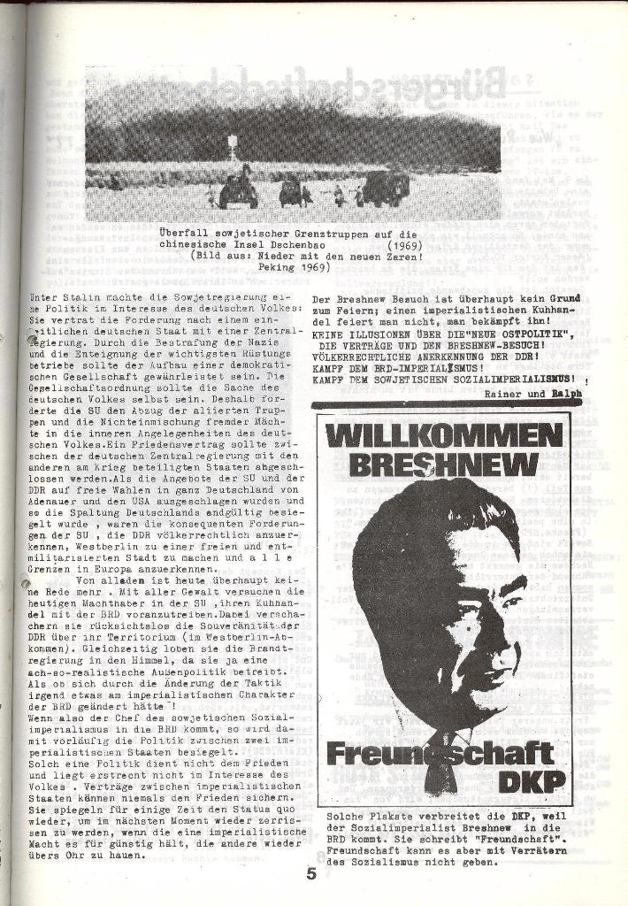 Schulkampf _ Zeitung des KOB, Nr. 5/73, Seite 5