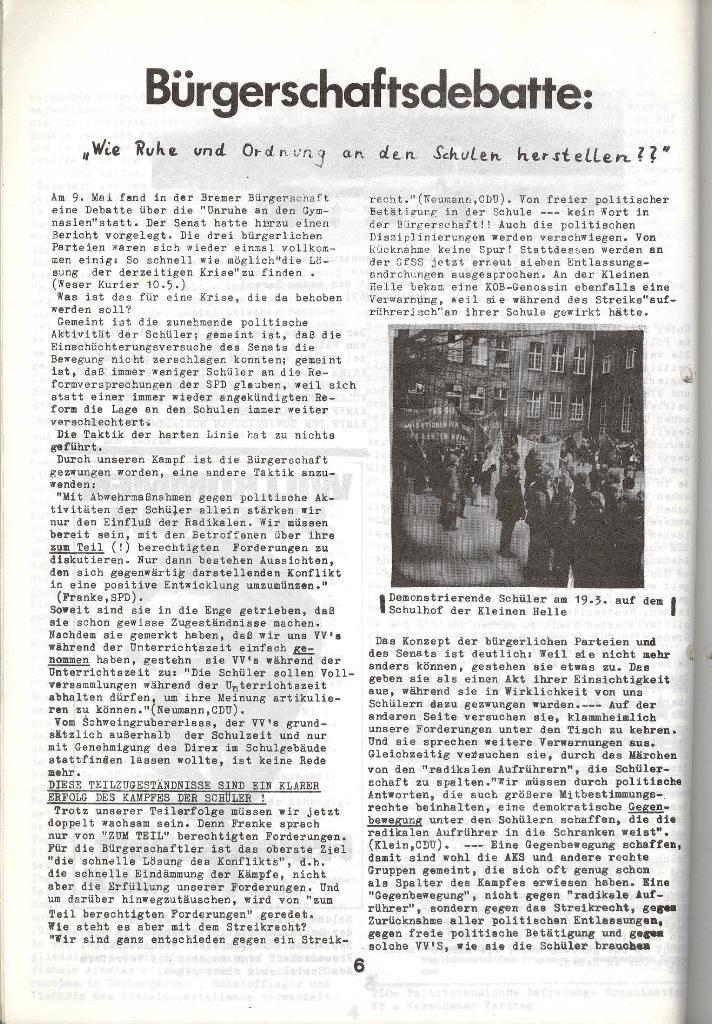 Schulkampf _ Zeitung des KOB, Nr. 5/73, Seite 6