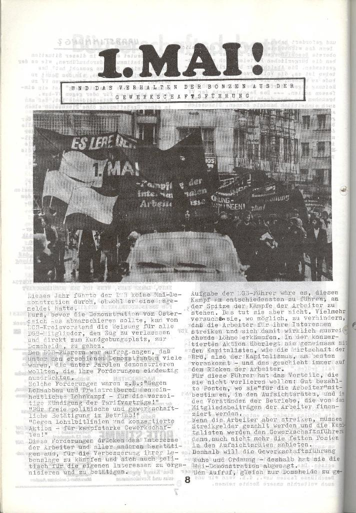 Schulkampf _ Zeitung des KOB, Nr. 5/73, Seite 8