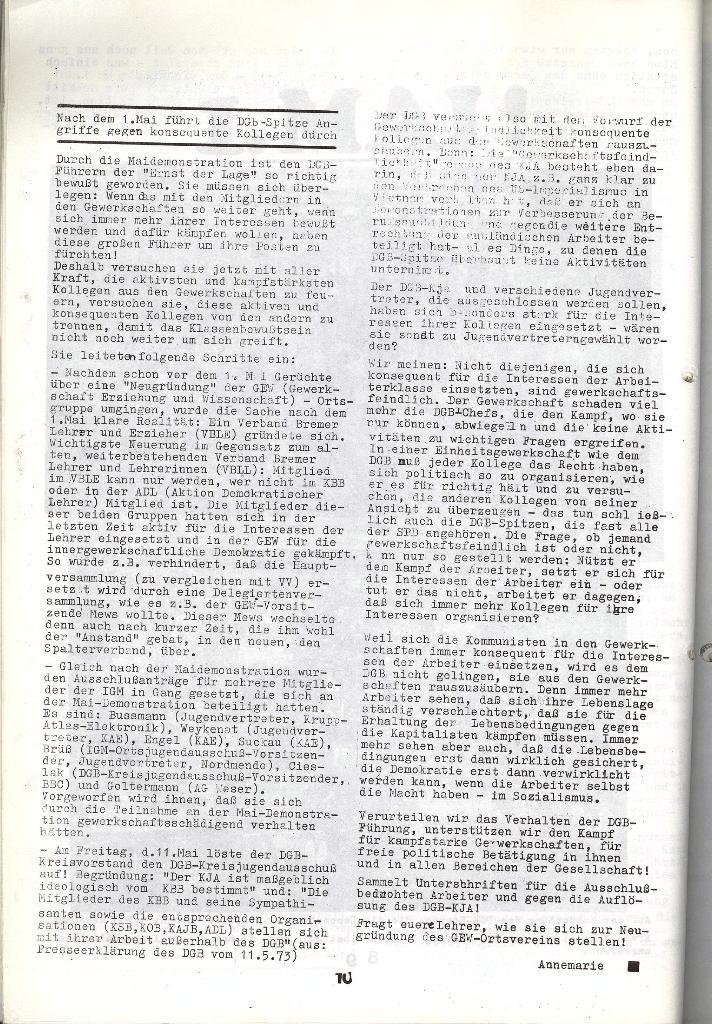 Schulkampf _ Zeitung des KOB, Nr. 5/73, Seite 10