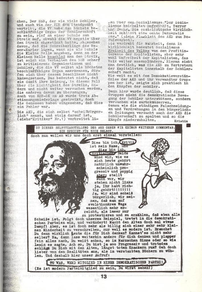 Schulkampf _ Zeitung des KOB, Nr. 5/73, Seite 13