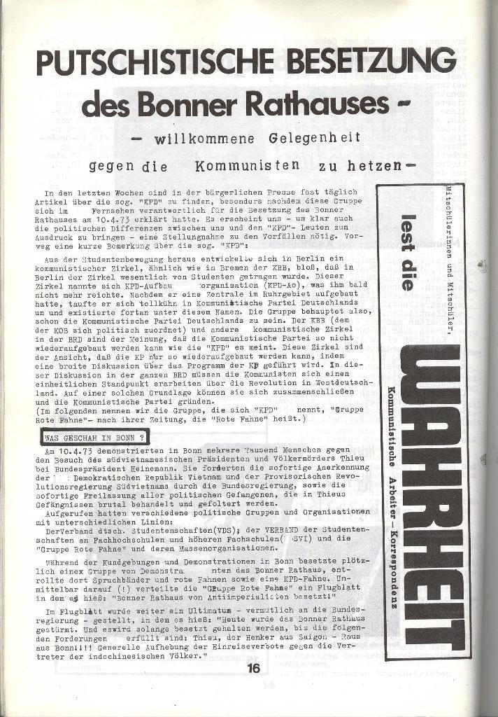 Schulkampf _ Zeitung des KOB, Nr. 5/73, Seite 16