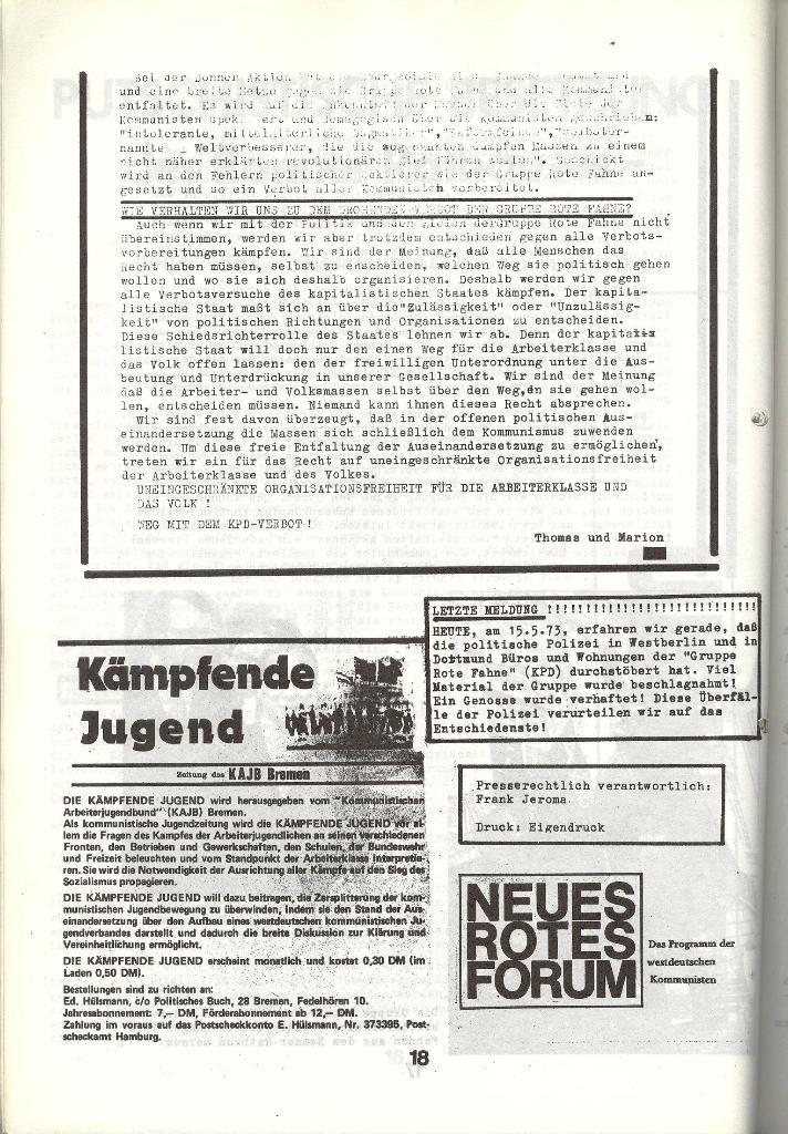Schulkampf _ Zeitung des KOB, Nr. 5/73, Seite 18