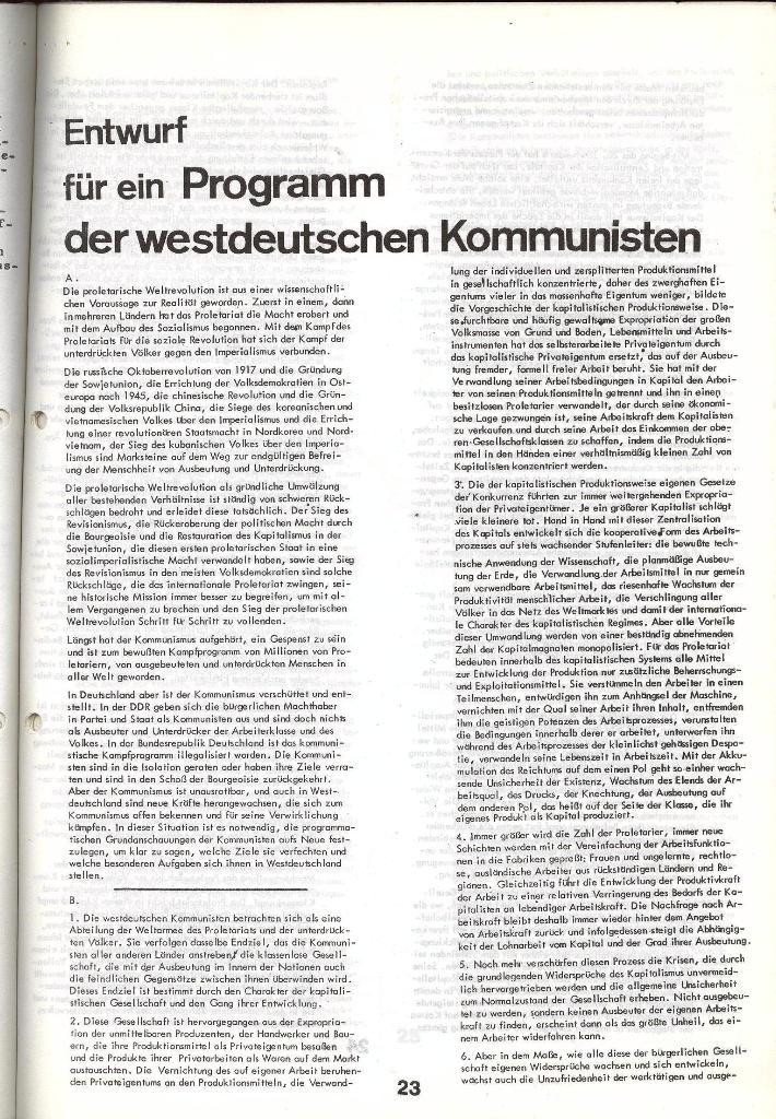 Schulkampf _ Zeitung des KOB, Nr. 5/73, Seite 23