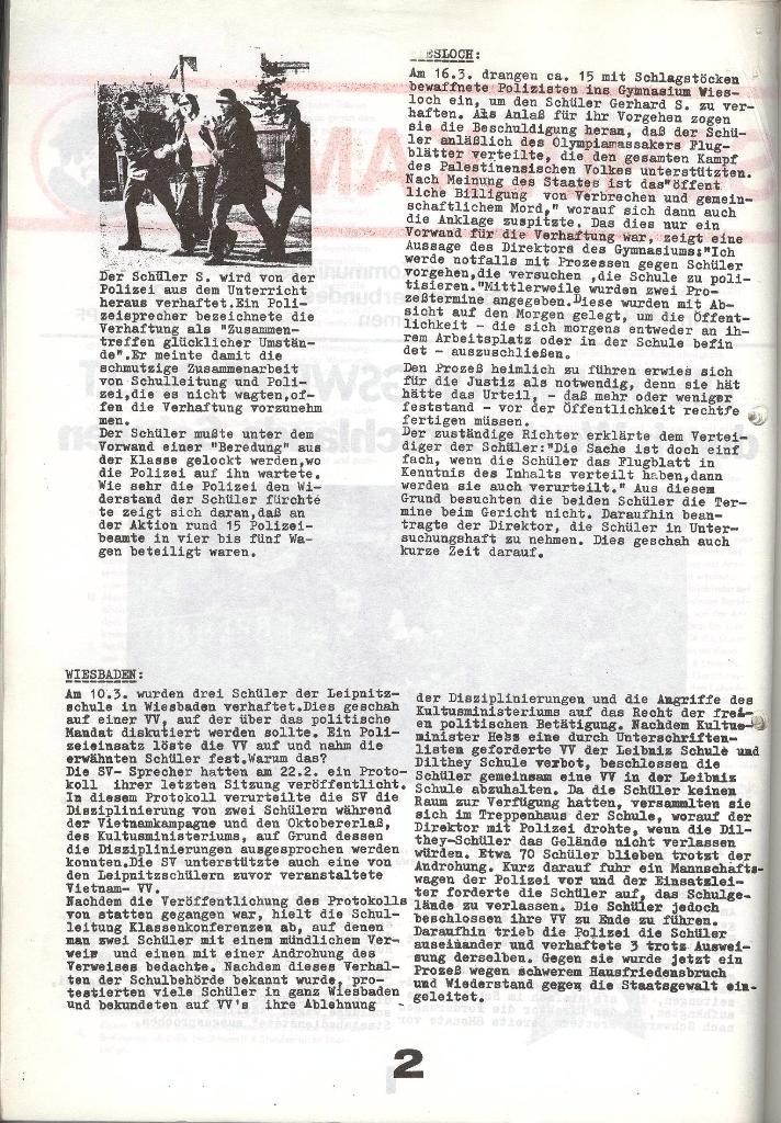 Schulkampf _ Zeitung des KOB, Nr. 6/73, Seite 2
