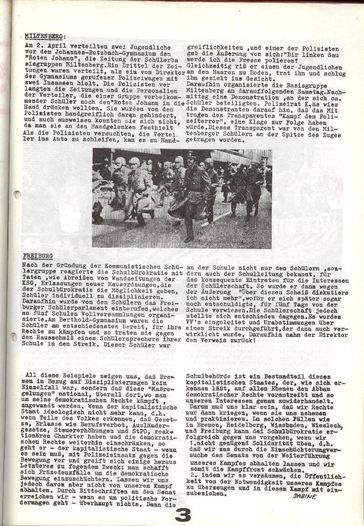 Schulkampf _ Zeitung des KOB, Nr. 6/73, Seite 3