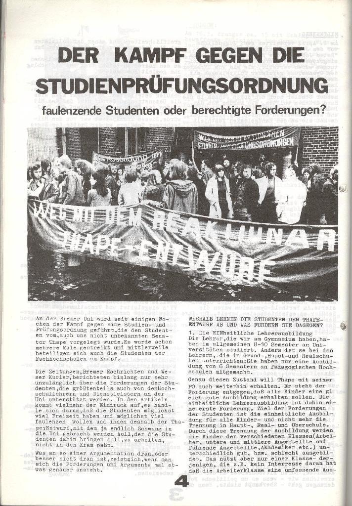 Schulkampf _ Zeitung des KOB, Nr. 6/73, Seite 4