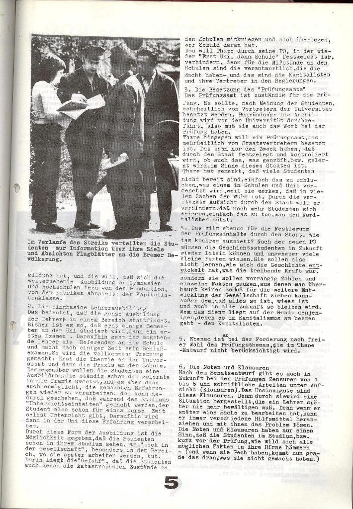 Schulkampf _ Zeitung des KOB, Nr. 6/73, Seite 5