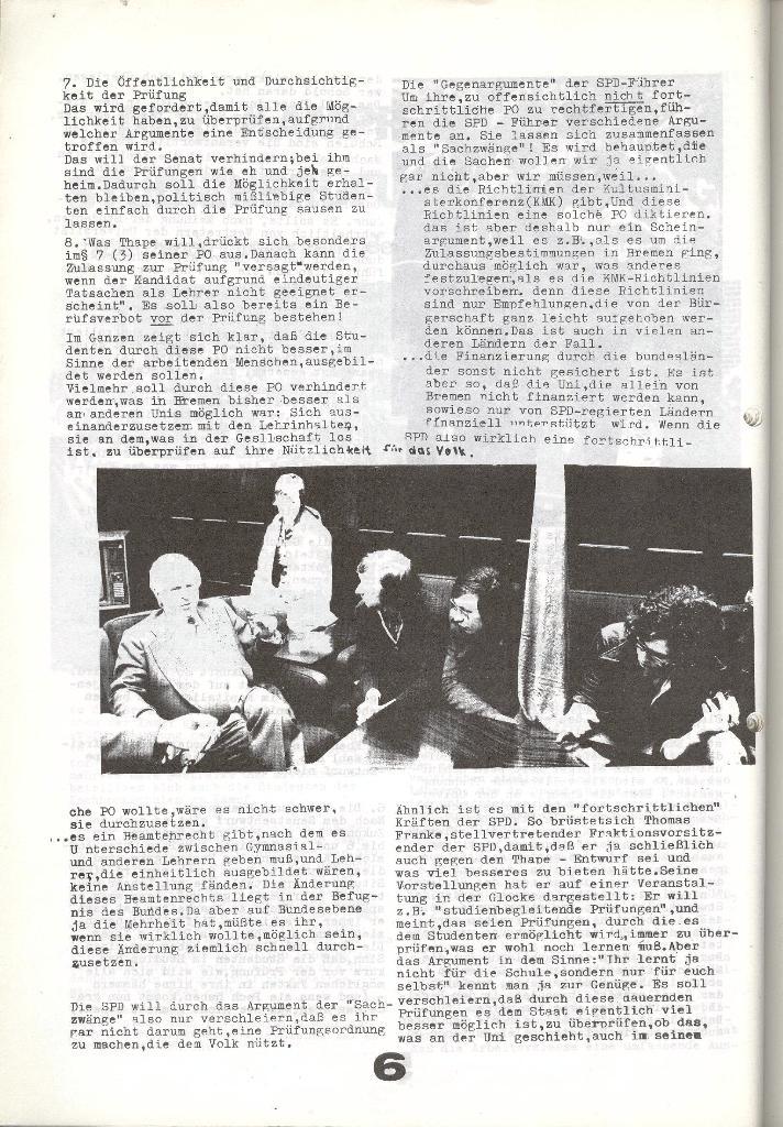 Schulkampf _ Zeitung des KOB, Nr. 6/73, Seite 6