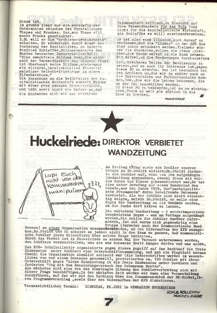 Schulkampf _ Zeitung des KOB, Nr. 6/73, Seite 7