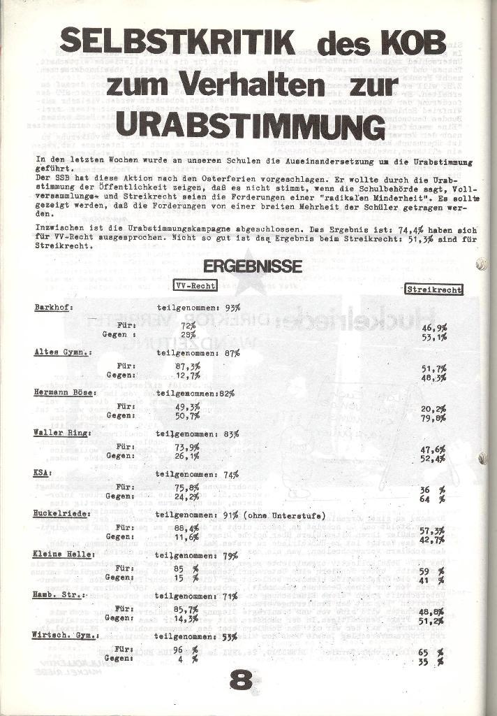 Schulkampf _ Zeitung des KOB, Nr. 6/73, Seite 8