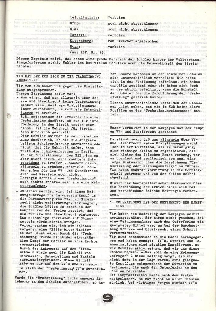 Schulkampf _ Zeitung des KOB, Nr. 6/73, Seite 9