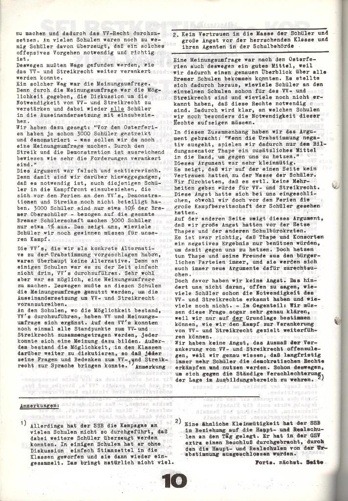 Schulkampf _ Zeitung des KOB, Nr. 6/73, Seite 10