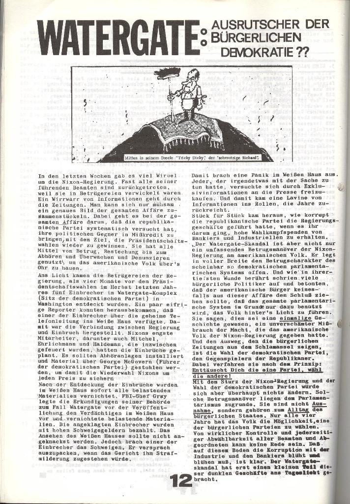 Schulkampf _ Zeitung des KOB, Nr. 6/73, Seite 12