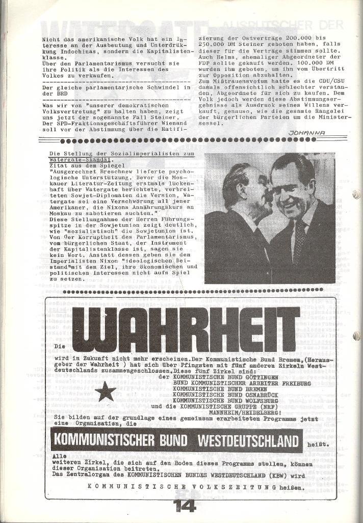 Schulkampf _ Zeitung des KOB, Nr. 6/73, Seite 14