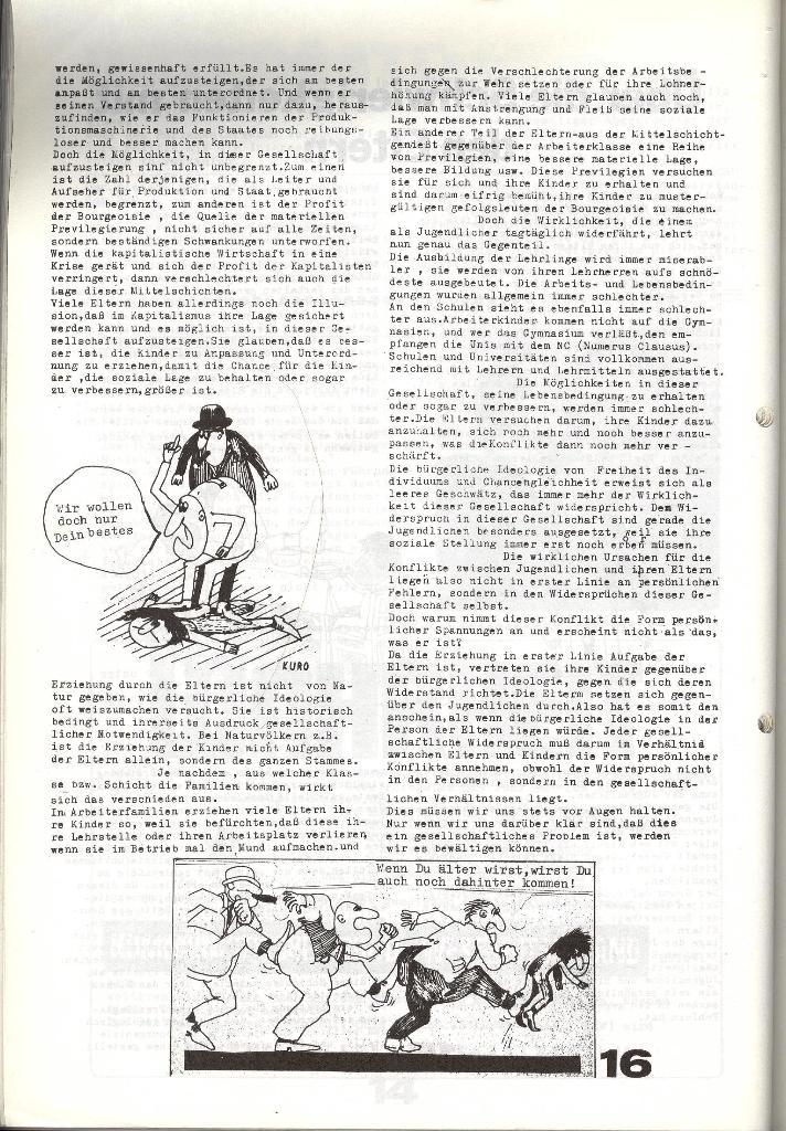 Schulkampf _ Zeitung des KOB, Nr. 6/73, Seite 16