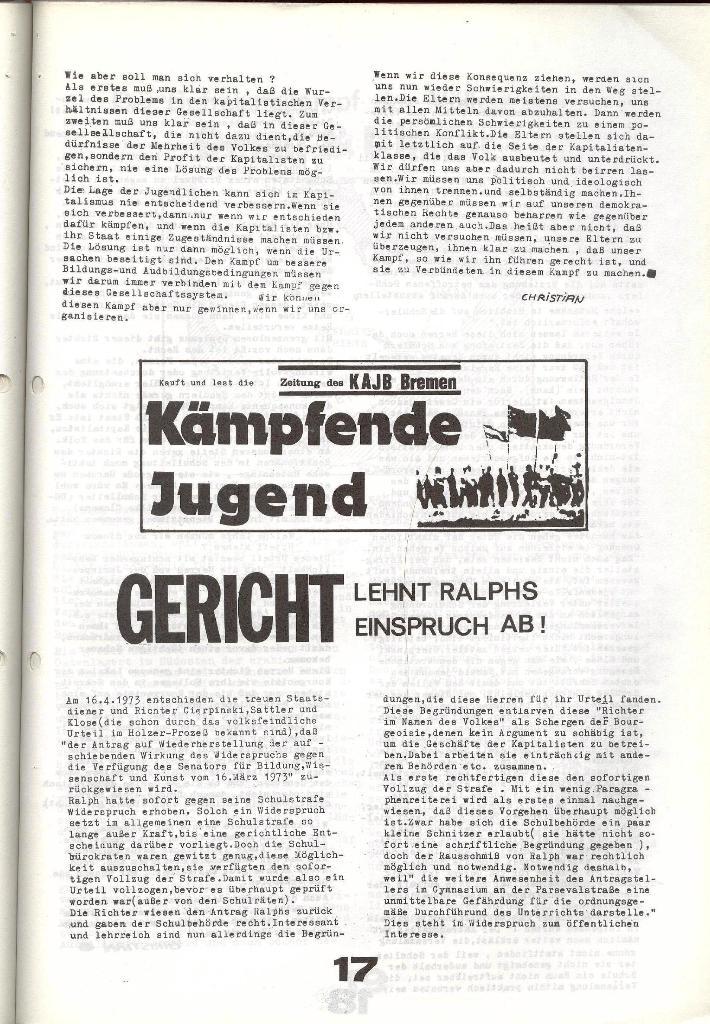 Schulkampf _ Zeitung des KOB, Nr. 6/73, Seite 17