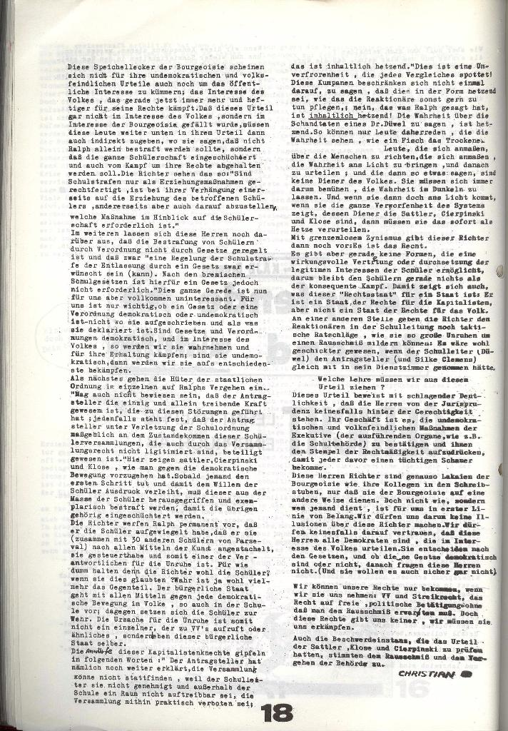Schulkampf _ Zeitung des KOB, Nr. 6/73, Seite 18