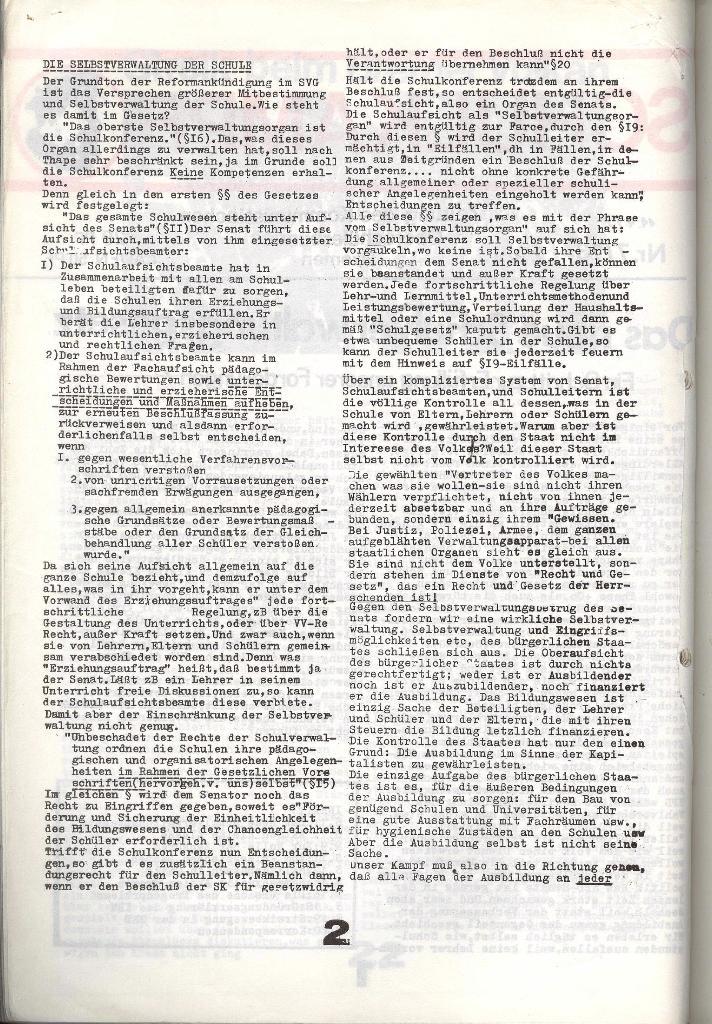 Schulkampf _ Zeitung des KOB, Nr. 7/73, Seite 2