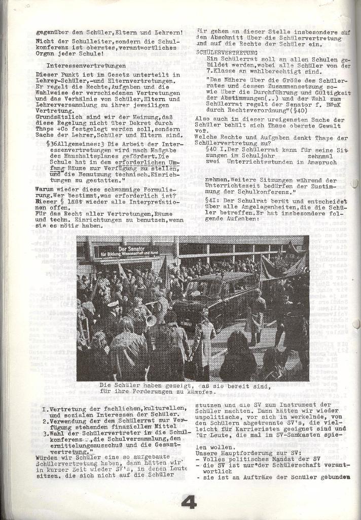Schulkampf _ Zeitung des KOB, Nr. 7/73, Seite 4