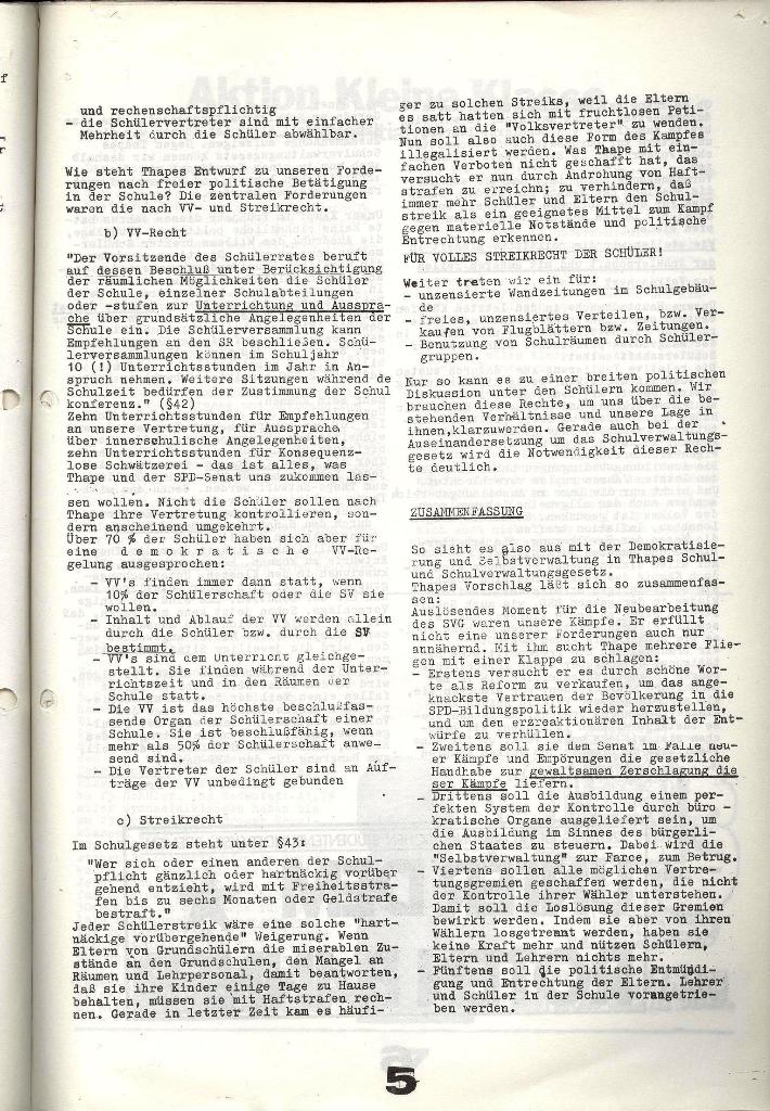 Schulkampf _ Zeitung des KOB, Nr. 7/73, Seite 5