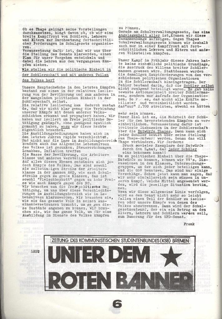 Schulkampf _ Zeitung des KOB, Nr. 7/73, Seite 6