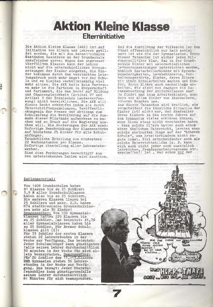 Schulkampf _ Zeitung des KOB, Nr. 7/73, Seite 7