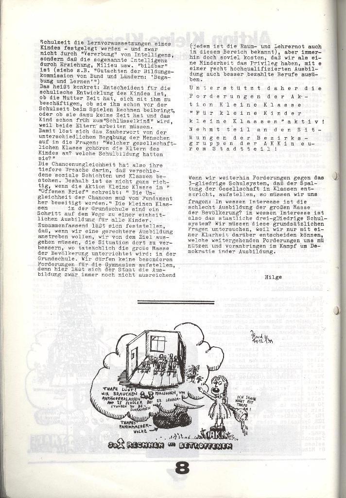 Schulkampf _ Zeitung des KOB, Nr. 7/73, Seite 8