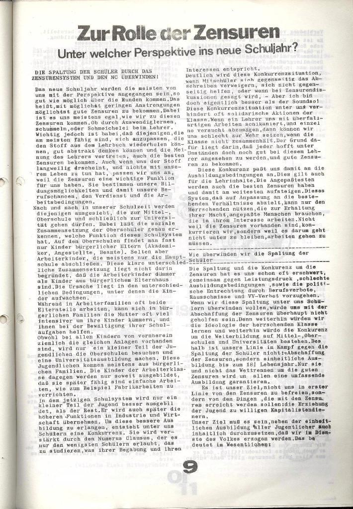 Schulkampf _ Zeitung des KOB, Nr. 7/73, Seite 9