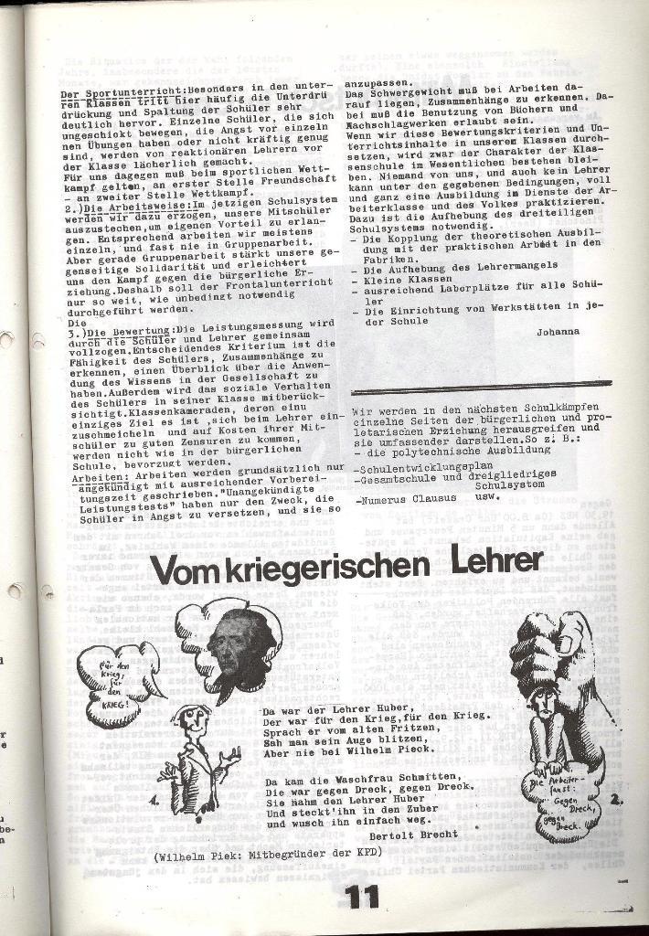 Schulkampf _ Zeitung des KOB, Nr. 7/73, Seite 11