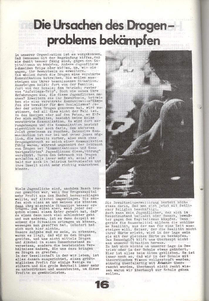 Schulkampf _ Zeitung des KOB, Nr. 7/73, Seite 16