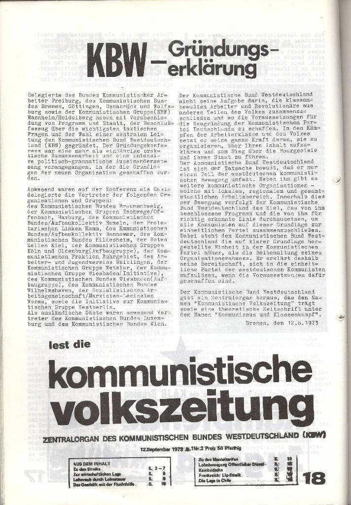 Schulkampf _ Zeitung des KOB, Nr. 7/73, Seite 18