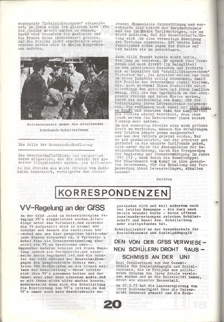 Schulkampf _ Zeitung des KOB, Nr. 7/73, Seite 20